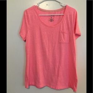 Hot Pink and white fleck t-shirt
